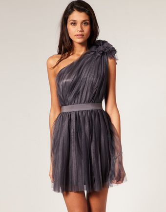ASOS Collection Asos Pleated Dress with One-shoulder - Lyst