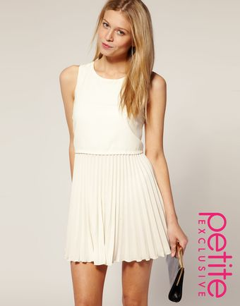 ASOS Collection Asos Petite Exclusive Pleated Skirt Dress - Lyst