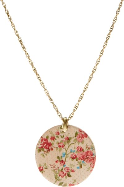 Asos Collection Asos Painted Wooden Disc Necklace in Multicolor (multi) - Lyst