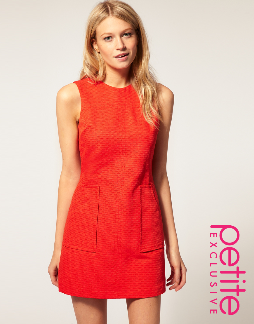 Asos collection Asos Petite Exclusive 60 S Textured Shift Dress in ...