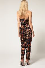 Asos Collection Asos Petite Exclusive Printed Jumpsuit in Black (print) - Lyst