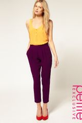 ASOS Collection Asos Petite Exclusive Peg Trousers with Pleat Front - Lyst