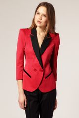 ASOS Collection Asos Blazer with Contrast Lapels - Lyst