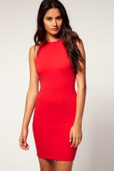 ASOS Collection Asos Bodycon Dress Slash Back - Lyst