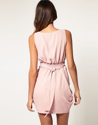 ASOS Collection Asos Tulip Dress with Tie Back - Lyst
