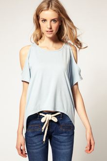 ASOS Collection Asos Cut Out Shoulder Dip Back Tee - Lyst