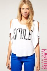 ASOS Collection Asos Petite Exclusive Top with Smile Print - Lyst
