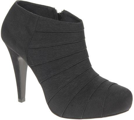 Asos Asos Temper Pleated Side Zip Shoe Boot in Black