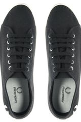 Fred Perry Phoenix Canvas Plimsolls in Black - Lyst