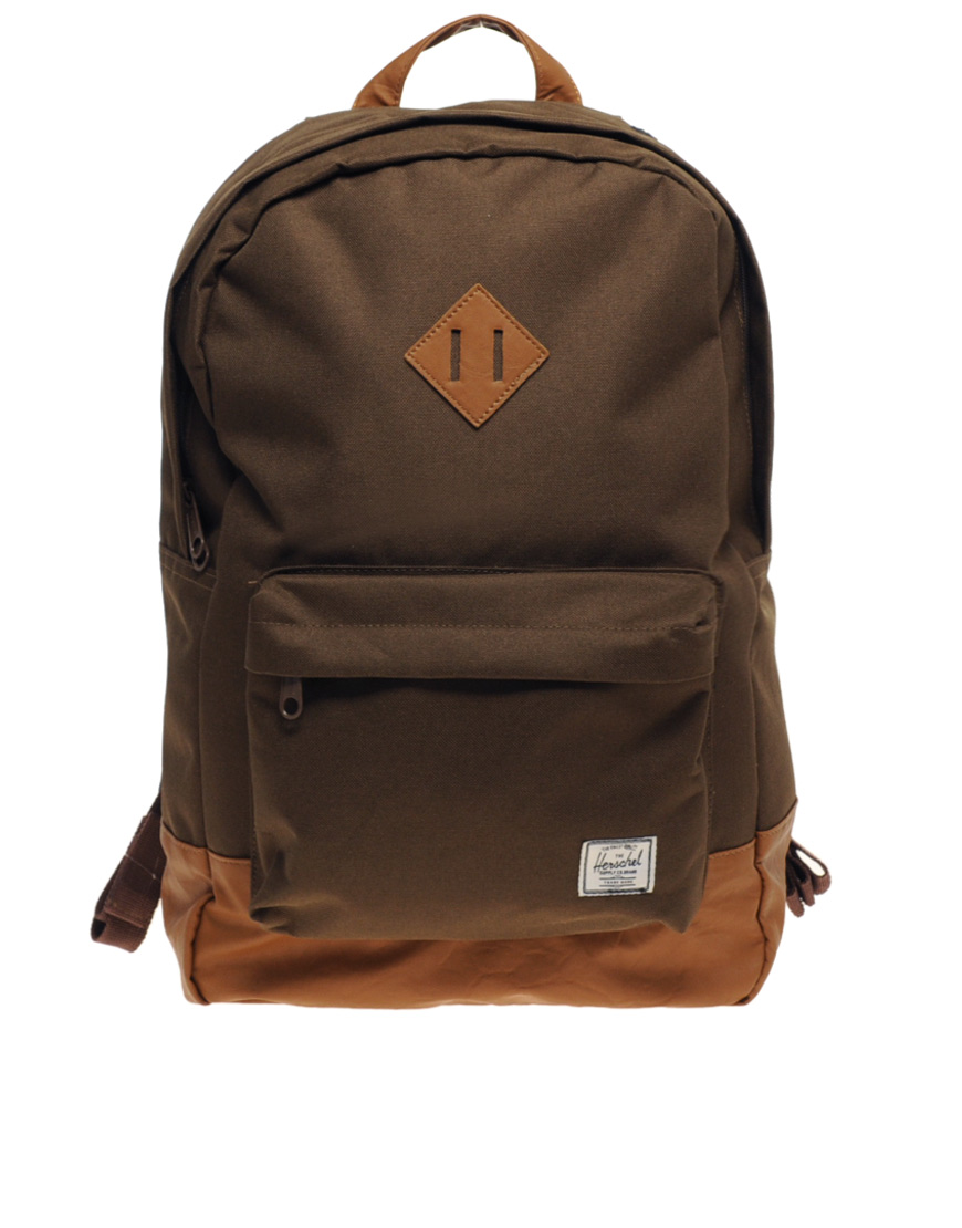 herschel supply co herschel heritage backpack in brown for men lyst. Black Bedroom Furniture Sets. Home Design Ideas
