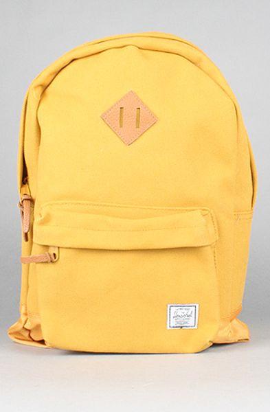 Herschel Supply Co The Heritage 200z Backpack In Mustard