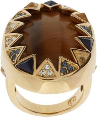 House Of Harlow Resin Stone Crystal Ring - Lyst