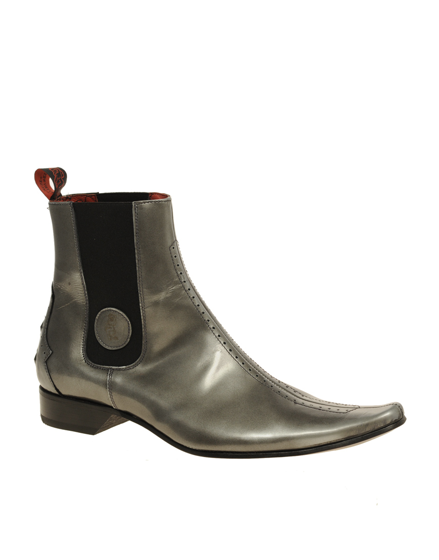 jeffery west muse hi shine chelsea boots in silver for men lyst. Black Bedroom Furniture Sets. Home Design Ideas