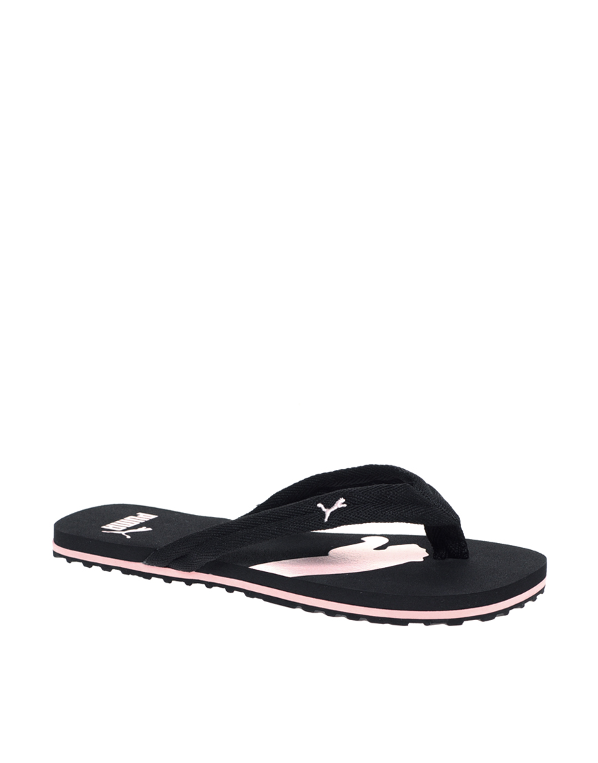 puma puma basic flip flop in black blkpin lyst. Black Bedroom Furniture Sets. Home Design Ideas