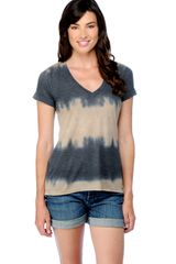 Splendid Tie Dye Stripe Top - Lyst