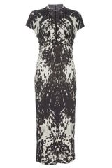 Alexander McQueen Printed Long Pencil Dress