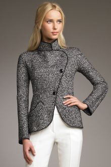 Armani Decon Tweed Jacket - Lyst