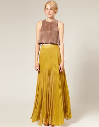 ASOS Collection Asos Pleated Maxi Skirt - Lyst