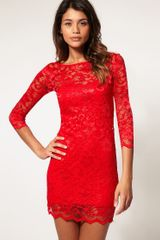 ASOS Collection Asos Lace Bodycon Dress - Lyst