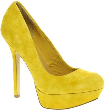 Asos Asos Pump It Up Suede Platform Court Shoe - Lyst