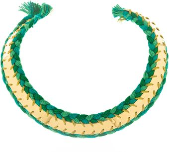 Aurelie Bidermann Double Braided Copacabana Necklace - Lyst