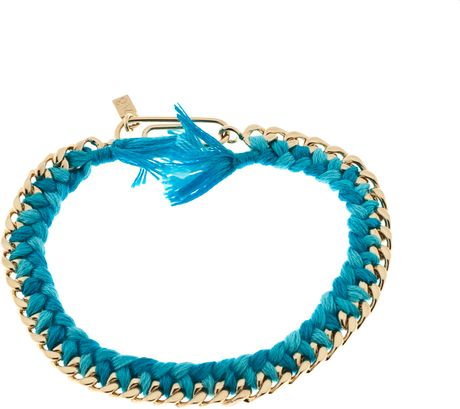 Aurelie Bidermann Do Brasil Bracelet 4 Mm in Blue (gold) - Lyst