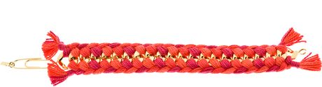 Aurelie Bidermann Double Braided Do Brasil Bracelet in Gold - Lyst