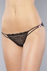Betsey Johnson The Eyelet Lace Lo-rise Bikini in Raven Black - Lyst