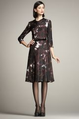 Carolina Herrera Waterfall-print Dress - Lyst