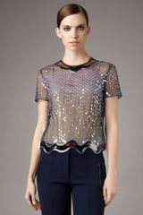 Christopher Kane Aqua-trim Sequin Top - Lyst