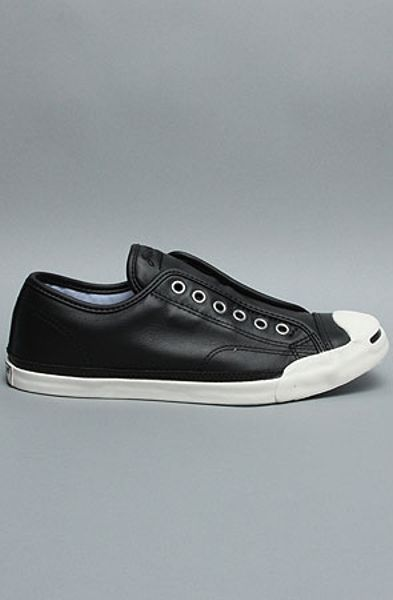 Converse The Jack Purcell Lp Slip Sneaker in Black in Black for Men - Lyst