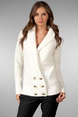 Dolan Double Breasted Cashmere Cardigan - Lyst