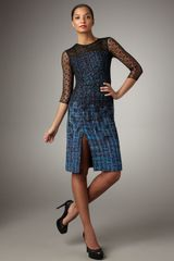 Erdem Lace-overlay Tweed Dress - Lyst