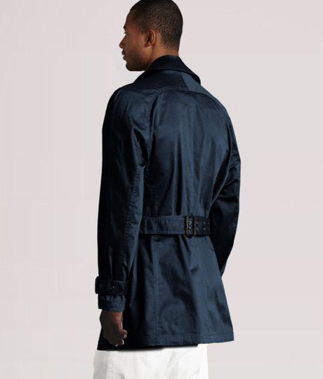 Men H&m Trenchcoat in Blue