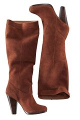 H&m Suede Boots in Brown (chestnut) - Lyst