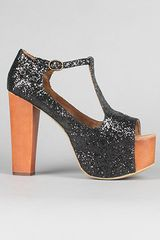 Jeffrey Campbell The Foxy Shoe in Black Glitter