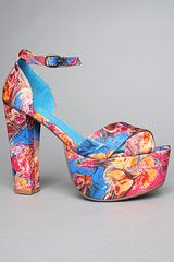 Jeffrey Campbell The El Carmen Shoe in Blue Fuchsia Combo - Lyst