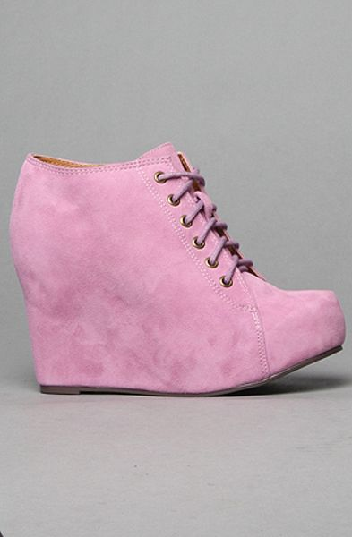 Jeffrey Campbell The 99 Tie Shoe In Lavender Suede In Pink