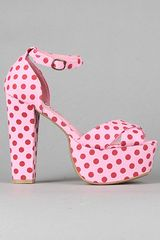 Jeffrey Campbell The El Carmen Shoe in Pink with Red Dots - Lyst