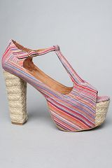 Jeffrey Campbell The Foxy Espadrille Shoe in Multi Stripe - Lyst