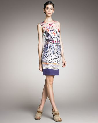 Mary Katrantzou Mixed-print Jersey Dress - Lyst