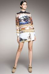 Mary Katrantzou Scenic-print Shirtdress - Lyst