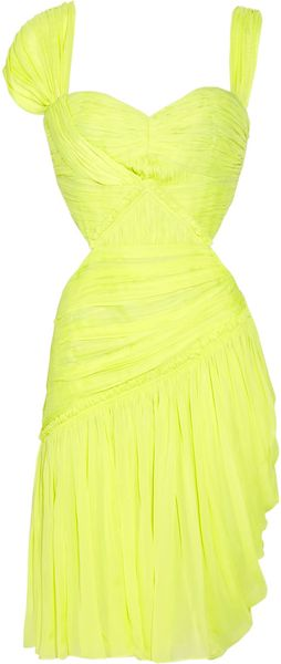 Matthew Williamson Summer Cutout Silk-chiffon Dress - Lyst