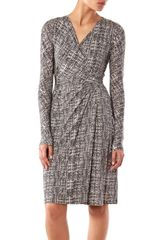 Max Mara Studio Long Sleeve Dress in Gray (grey) - Lyst