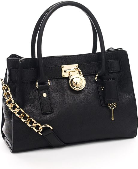 Michael Kors Hamilton Satchel, Black in Black