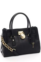 Michael Kors Hamilton Satchel, Black