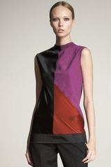 Narciso Rodriguez Colorblock Top - Lyst