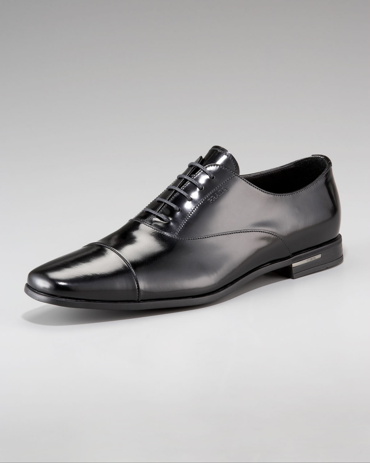 Black Lace Up Shoes Prada 15vyj8