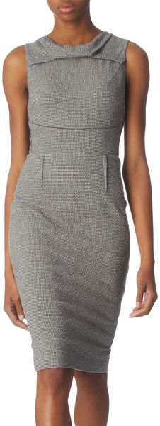 RM By Roland Mouret Houndstooth Sherlock Dress - Lyst