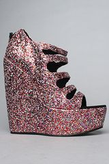 Senso Diffusion The Rush Shoe in Multi Glitter